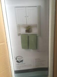 Details About Zenith White Wood Bathroom Storage Cabinet Shelf Organizer Toilet  Tank Topper