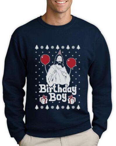Ugly Christmas Sweater Jesus Birthday Boy Xmas Holiday Sweatshirt Gift Idea