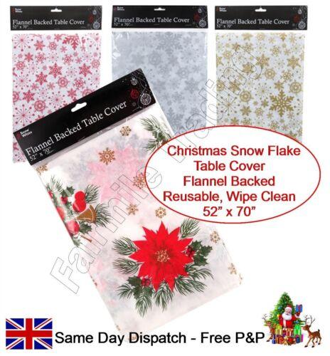 Table de Noël réutilisables chiffon couverture flanelle soutenu table à manger décoration de Noël