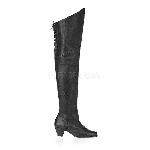 Leder Overkneestiefel Stiefel Gr.38 US 8 schwarz Maiden-8828 bequem Overknees    | ein guter Ruf in der Welt