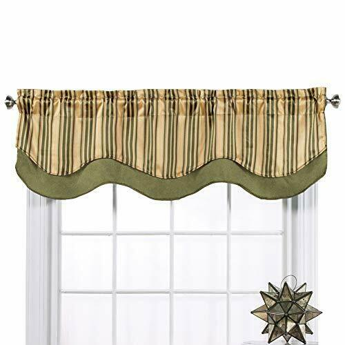 Windsor 56 W X 17 L Layered Curtain Valance For Sale Online Ebay