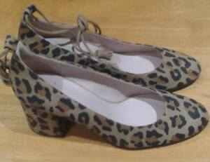Size 6 Cl2418d Leopard Shoes Cara Boston Donna 39 Brown Nuovo BFaq0x