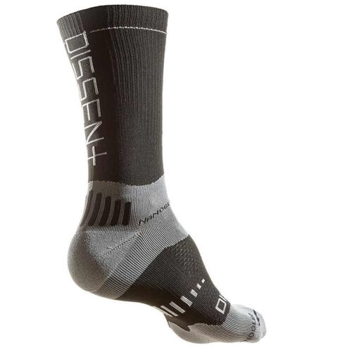 "Dissent Supercrew Nano 8/"" Compression socks Black S Men 3.5-6.5"
