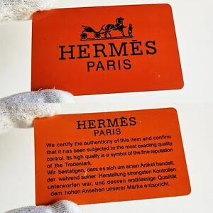 Actif Garanzia Hermes Paris Warranty Tag Certified Guarantee Bag Borsa Gioielli Watch Divers ModèLes RéCents