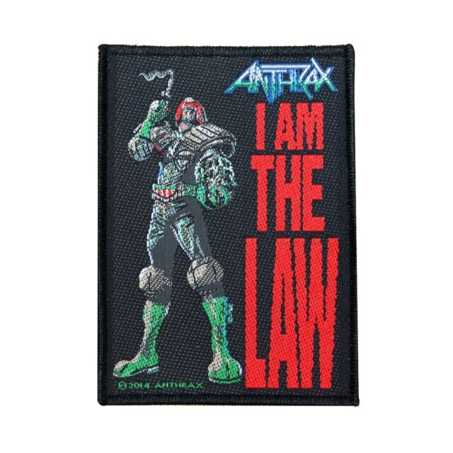 "Anthrax ""I Am The Law"" Single Song Art Thrash Metal Band Sew On Applique Patch"
