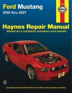 haynes ford mustang 2005 2007 repair manual workshop service 244 v6 rh ebay com au 2009 Ford Mustang 2010 ford mustang service manual