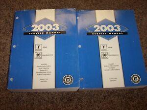 2003 buick rendezvous factory oem shop service repair manual set cx rh ebay com 2007 Buick Rendezvous 2004 Buick Rendezvous