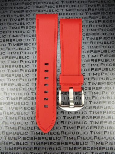 23mm PU Caoutchouc Plongeur Sangle Rouge Tang Bracelet de Montre Santos 100 XL L