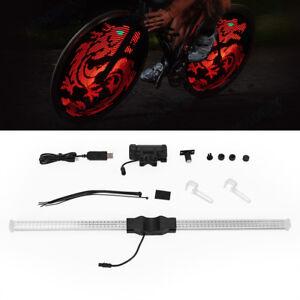 DIY Programmable RGB 64LED Bicycle Bike Cycling Wheel Tire Spoke Light Rainbow