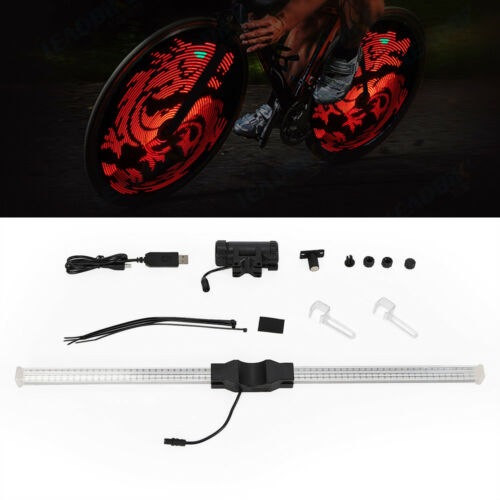 64 LED programmable DIY Bike Wheel Spoke Light 26/'/' DIYBicycle Light Waterproof
