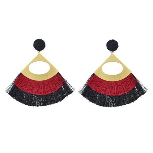 Boucles d/'oreilles Tassel Dangle Fringe Women Fashion Goutte Longue Style Vintage Bijoux
