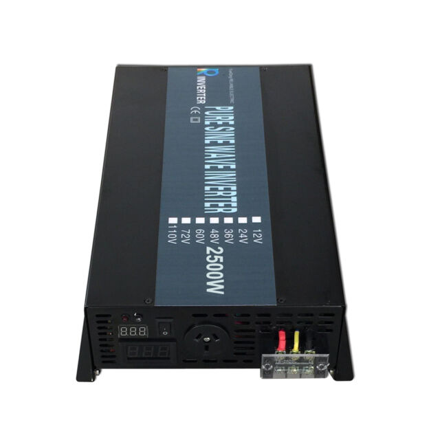 36V DC to 240V AC 50HZ 2500W Pure Sine Wave Solar Power Inverter Battery Backup