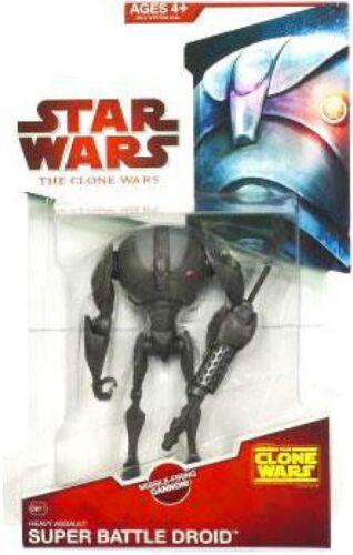 Star Wars Clone Wars 2009 Super Battle Droid Sergeant Action Figure CW11