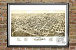 Old-Map-of-Texarkana-TX-from-1888-Vintage-Texas-Art-Historic-Decor