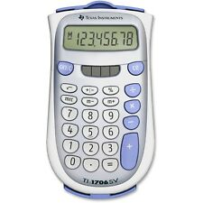 Texas Instruments TI-1706SV Handheld Pocket Calculator, 8-Digit LCD, Dual Power