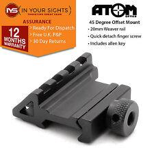 45°Degree offset weaver rail mount / airsoft, rifle shooting 4 slot rail mount