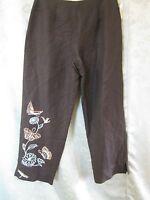 Mercer & Madison Size Size 6 Cropped Capri Pants Embroidery & Beads