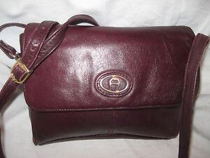 AUTHENTIQUE-sac-a-main-vintage-ETIENNE-AIGNER-cuir-T-BEG-bag