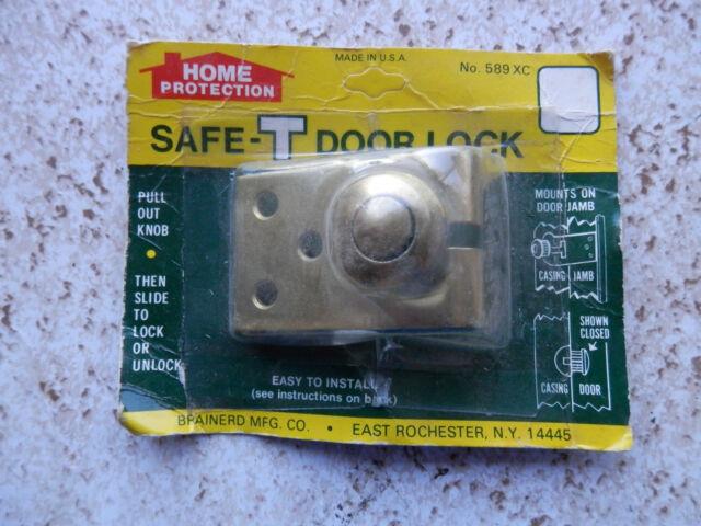 Brainerd Home Protection Safe T Door Lock Brass No 589 Xc For Sale Online Ebay