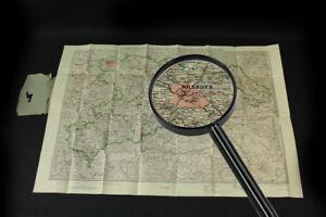 Grand-Vieux-Carte-Etat-Libre-Saxe-Geographique-Vintage-Bohemien-Zones