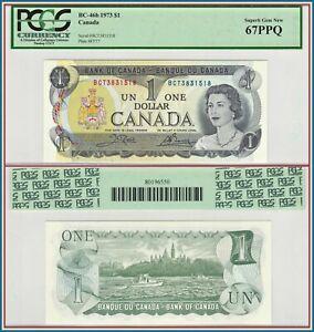 1973-Canada-1-Dollar-PCGS-67-PPQ-Superb-Gem-New-Unc-Crow-Bouey-Queen-Elizabeth