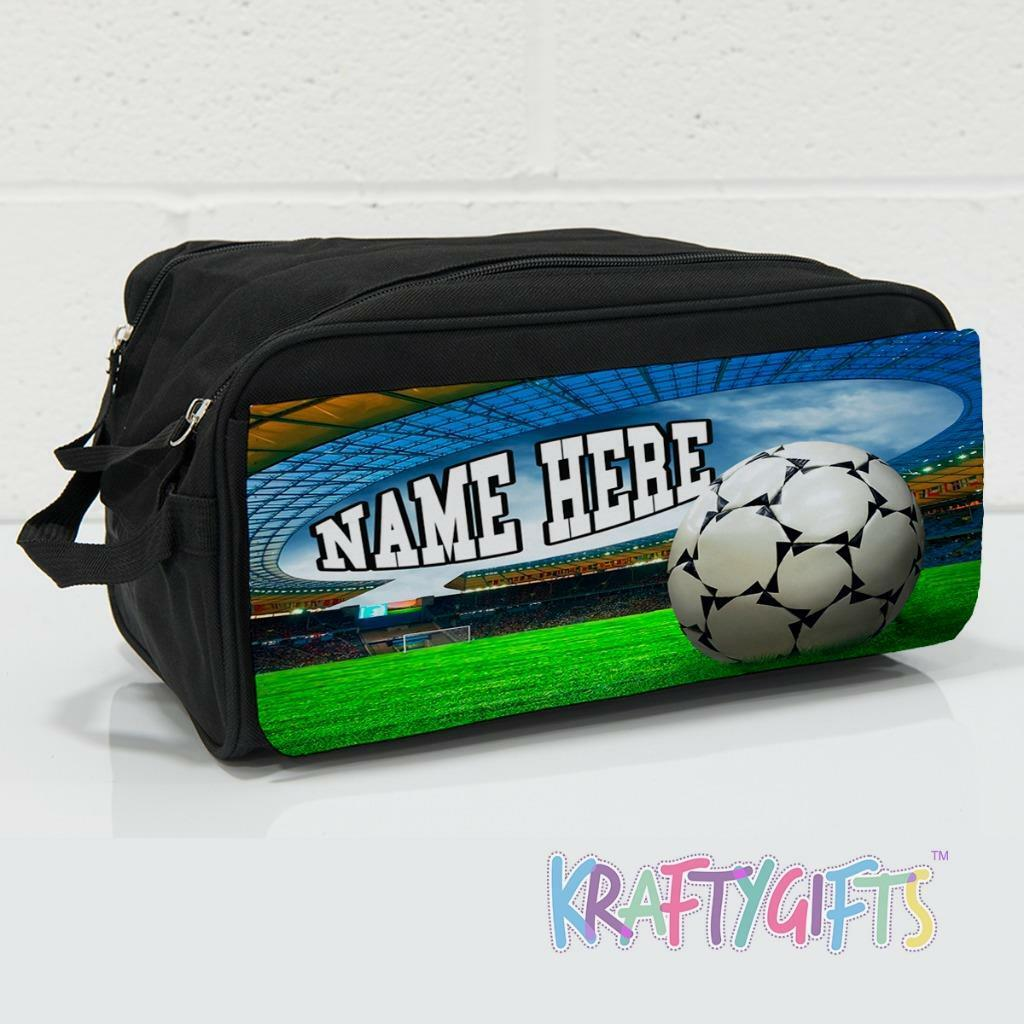 School sports bag boy kids PERSONALISED PRINTED HOLDALL WITH FOOTBALL DESIGN