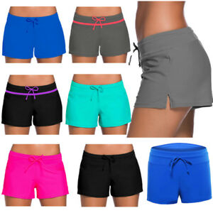 091561ec8b975 Image is loading Women-Ladies-Boy-Style-Shorts-Summer-Swimming-Bikini-