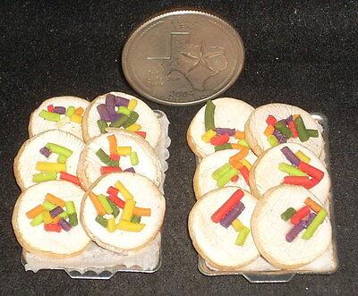 Mexican Folk Art Food #5536 Miniature 1 One Doughnut Donut Pastry Bakery Sheet