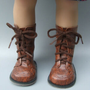 1 Pair doll brown boots shoes for 43cm doll and 18'' dolls accessories gifts UK
