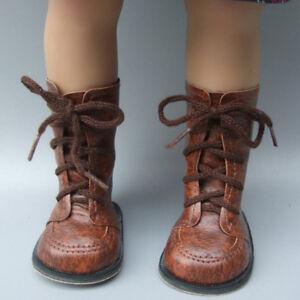 low priced 2a676 c0b8e 1 Paar Puppe braune Stiefel Schuhe für 43cm Puppe und 18 ...