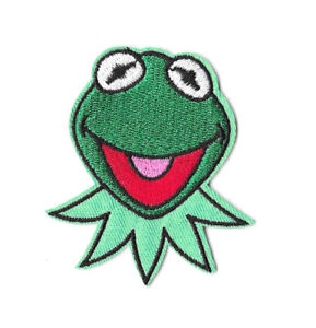 KERMIT-THE-FROG-Iron-on-Patch-Embroidered-Badge-Motif-Cartoon-Sew-PT40