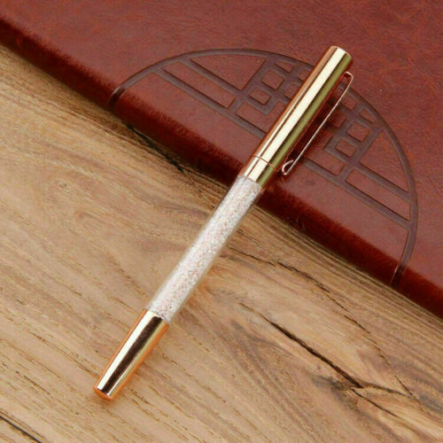 schöner Kugelschreiber kleine glitzer KRISTALLE Exklusiv Edel Crystal Pen Kuli