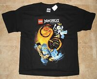 Lego Ninjago Black Short Sleeve Shirt Tee Shirt Size L - 14