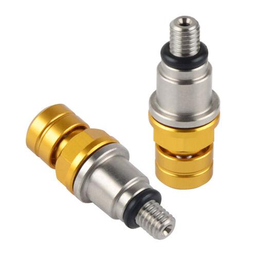 For Suzuki M5x0.8 Fork Air Bleeder Valves RM80 RM85 RM125 RM250 RMZ250 RM-Z450