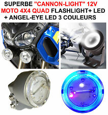 BMW HARLEY BUELL GOLDWING! CANNON-LIGHT DIAM 5CM+FLASHLIGHT+CERCLAGE ANGEL EYE!
