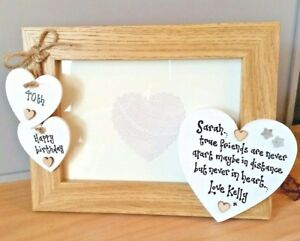 Friend 40th Birthday Gift Personalised Photo Frame 21st 18th 30 50