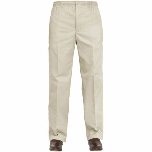 New Mens Rugby Trousers Full Elasticated Waist Casual Smart Pants Big Plus Size