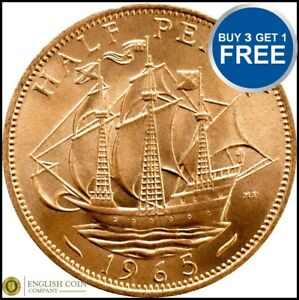 1953 à 1967 elizabeth 2ND half penny/demi pennies choix de l'année/date