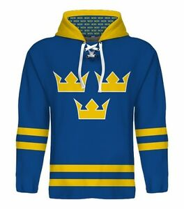 New 2020 Sweden Hockey Championship Hoodie Jersey Nhl Backstrom Sedin Zetterberg Ebay