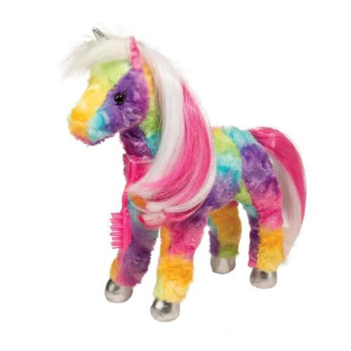 #757 by Douglas Cuddle Toys JACINTA the Plush RAINBOW UNICORN Stuffed Animal