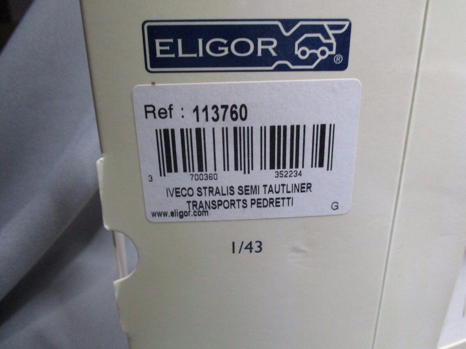 DV7706 DV7706 DV7706 ELIGOR 1 43 IVECO STRALIS TAUTLINER TRANSPORTS PEDRETTI Ref 113760 RARE 462c5f