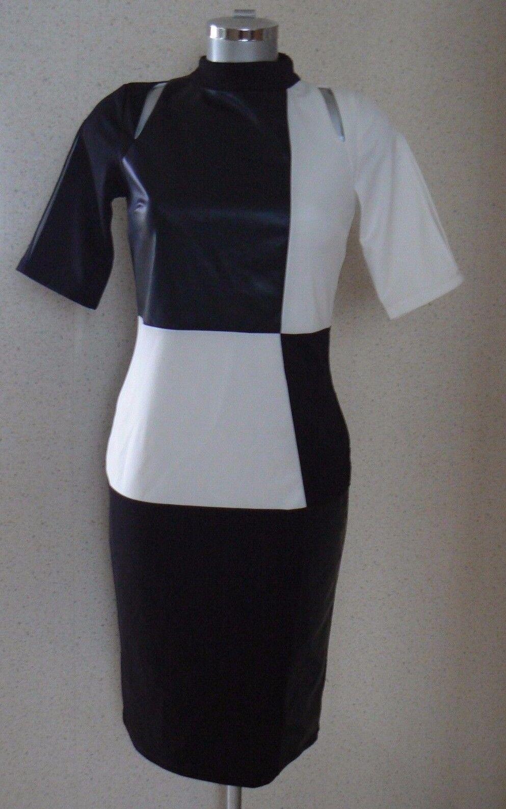 FOREVER UNIQUE ELLEN MONO DRESS Size 16 PU Panels NEW TAGS