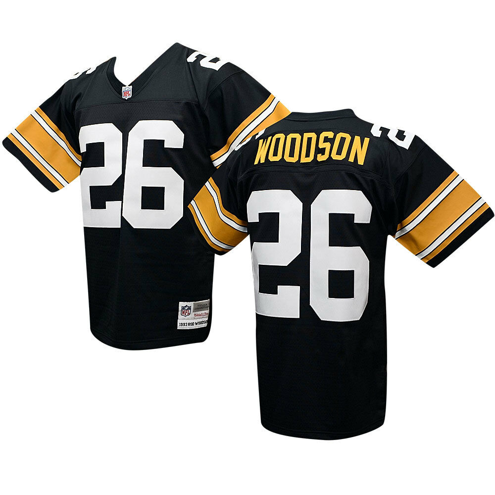 new product 6d6a1 1b857 Pittsburgh Steelers Rod Woodson Sz M Mitchell & Ness Throwback Jersey
