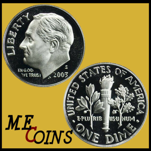 FREE SHIPPING! 2003-S PROOF Clad Roosevelt Dime Gem Cameo