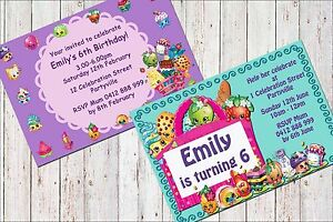 graphic relating to Shopkins Printable Invitations identified as Data regarding Printable Invite Personalized Females SHOPKINS Invitation JPEG On your own Print and Preserve!