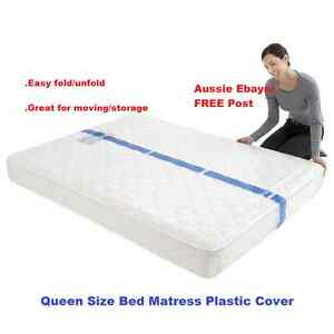 Image Is Loading 2 X Queen Size Mattress Protect Plastic Cover