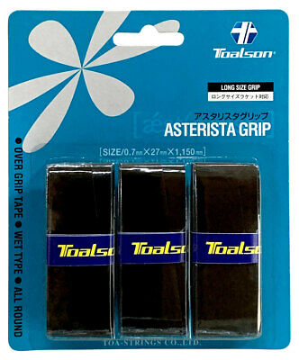 3 Toalson Asterisk Grips//Overgrips Free P/&P Choice Of Colours