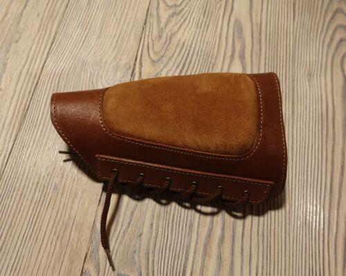 Leather Shotgun Shell Cartridge Buttstock Holder Cheek Rest Padded 12 /& 20 ga