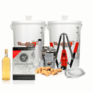Home Brew Complete White Wine Making Starter Kit Makes 30 Bottles Chardonnay