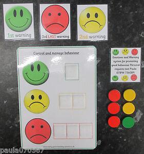 Promouvoir et de contrôle de bon comportement CPES et diagramme set. Autism SEN ~ ~ eyfs ~ ~ écoles  </span>